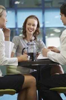 Businesspeople Taking a Work Break