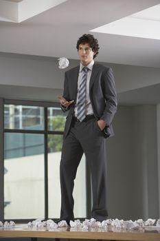 Playful Businessman