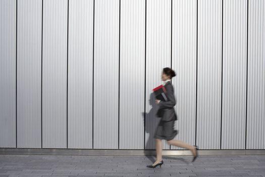 Businesswoman Hurrying