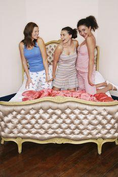 Teenage Girls Having Slumber Party