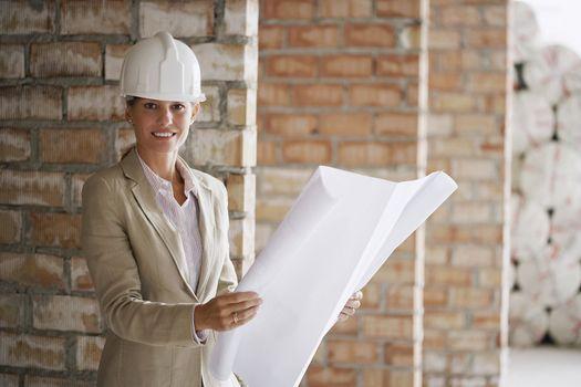 Businesswoman at Construction Site