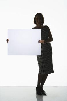 Shadowy Businesswoman