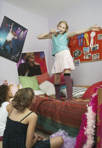 Girls at a Slumber Party
