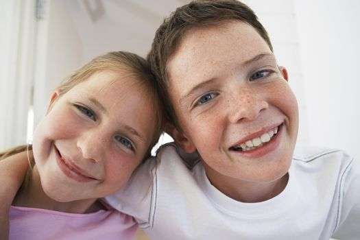 Brother and Sister Arm in Arm