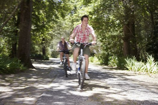 Teens Biking on Road