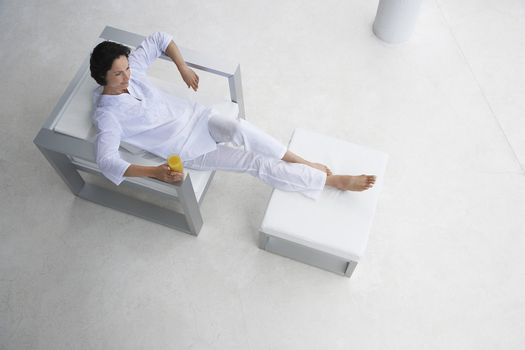 Woman Resting in Chair