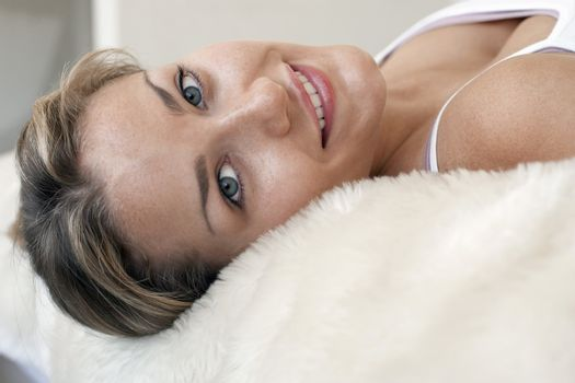Woman Relaxing on a Soft Blanket