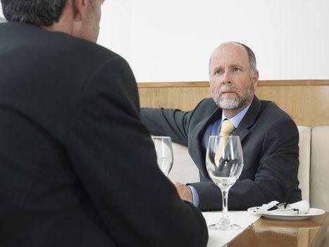 Businessmen at Restaurant
