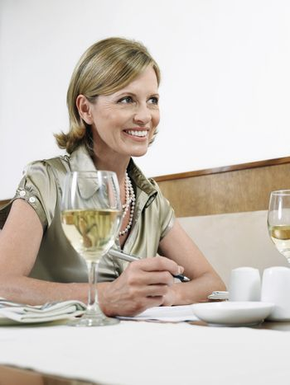 Businesswoman at Restaurant