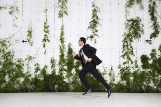Businessman Running