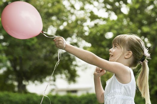 Girl with Party Balloon
