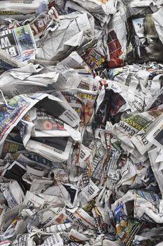 bunch of newspaper