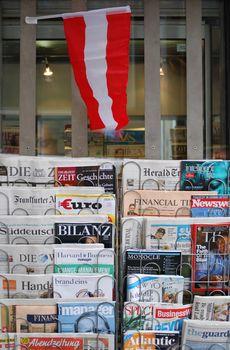 newsstand in Vienna