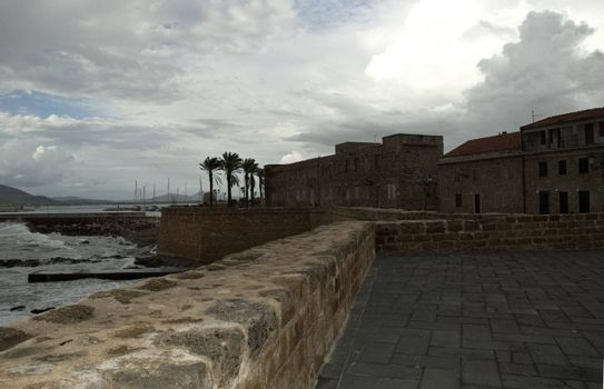 View of Alghero after an autumn storm