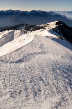 snow peak and slope