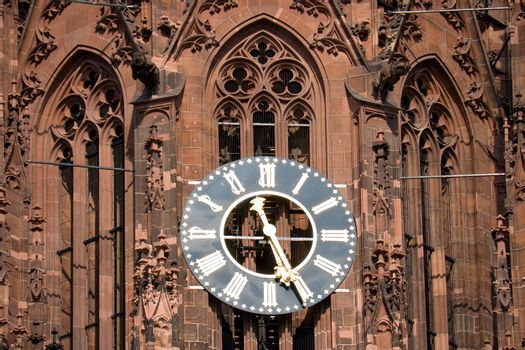 The clock of the Frankfurt cathedral
