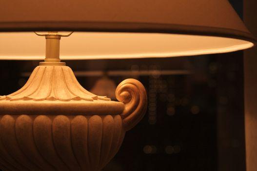 Close-up of an Eligant Decorative Desk Lamp