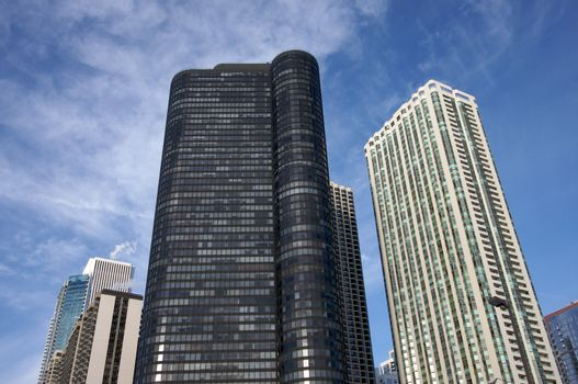 Modern buildings and condominiums in downtown Chicago
