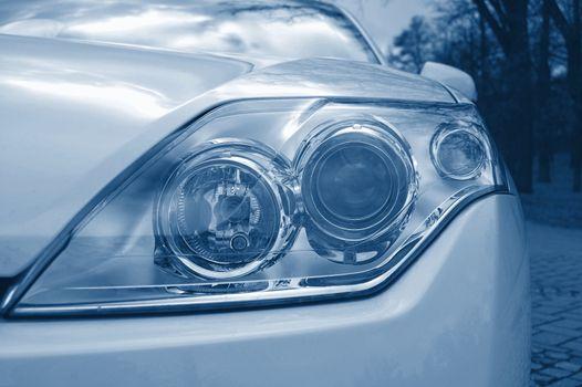 headlight of a car