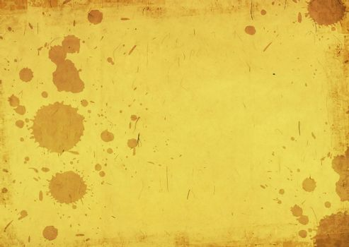 Golden grungy background with some stains
