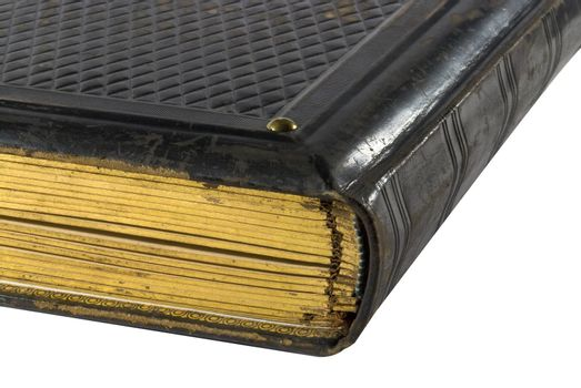 Details of an old book with gilt edge