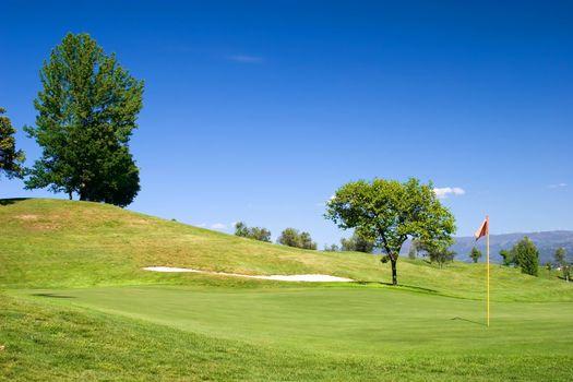 Golf field : 18th hole