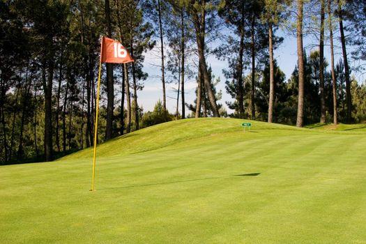 Golf field. 16th hole