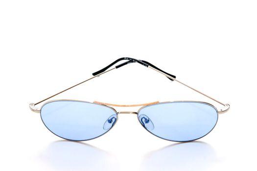 Blue shades on white background