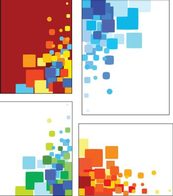 Collections of mosaic styled vector  patterns