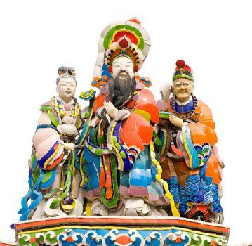 Colorful oriental god