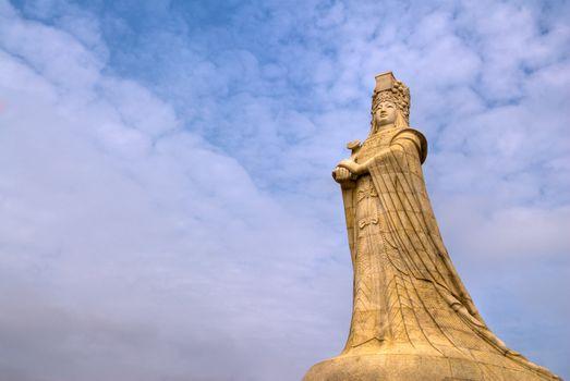 Chinese god statue