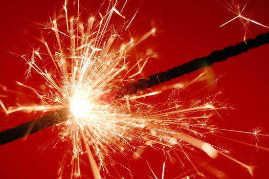 abstract holiday sparkler background with copyspace for text message