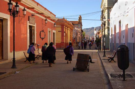 A street in San Cristobal de las Casas, Chiapas Mexico