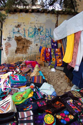 Textile and Crafts Market in Chiapas, Mexico