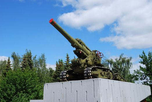 Gun - WWII monument in Russia