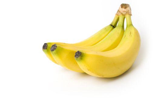 Banana bunch on white background