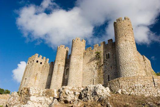 Obidos Castle in Perspective. Obidos, Portugal.