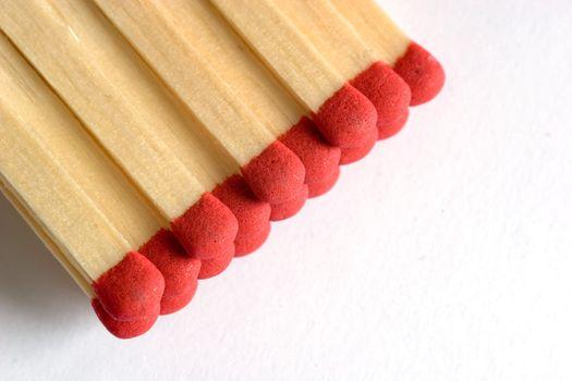 Matches macro isolated on white