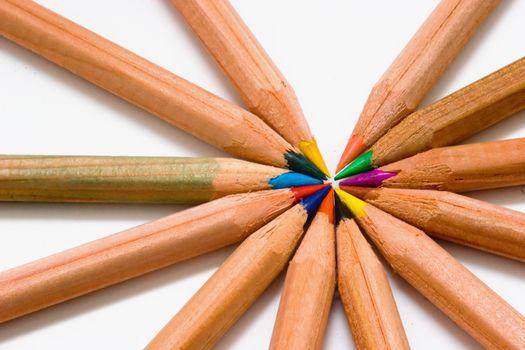 Wooden color pencils