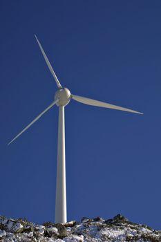 Electric Windmill in blue sky