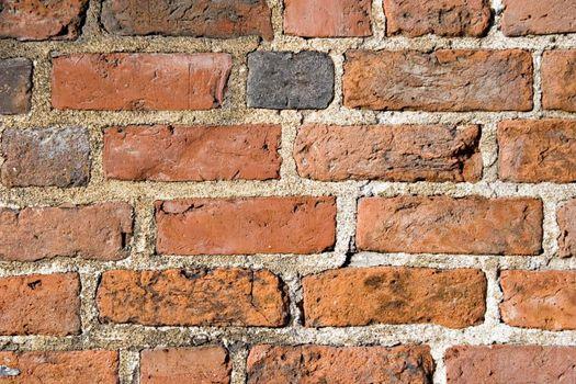 Brick wall pattern. Close up.