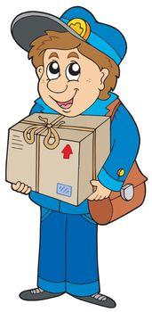 Mailman delivering box