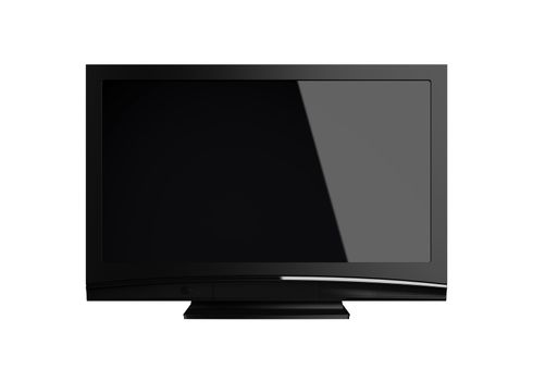 Highres LCD-TV on white