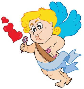 Cupid with bubble maker