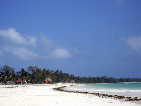 zanzibar beach when the tide