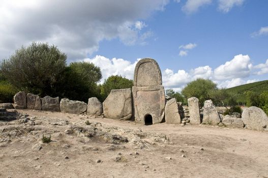 Tomb of the Giants in a village in Sardinia antivi