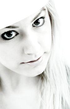 High contrast girl