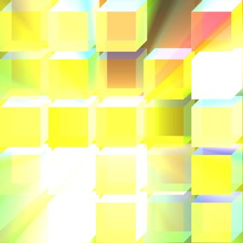 3d glass translucent cubes abstract background design pattern glowing light