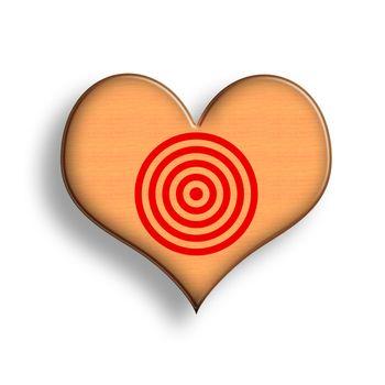 Wooden Heart Target