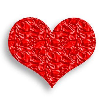 Wrinkled Red Heart